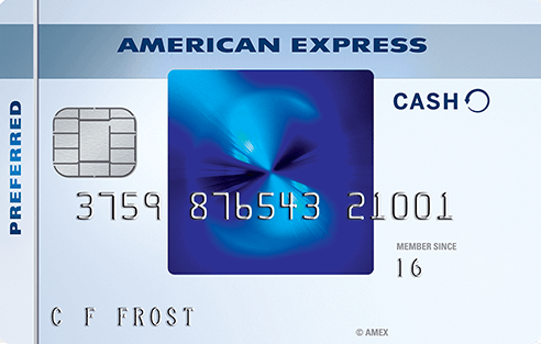 The American Express Blue Cash Preferred® Card.