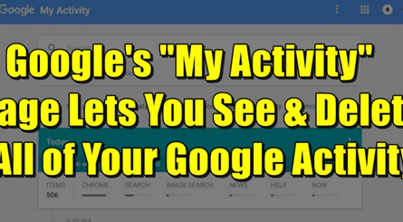 Image: Delete All your Google Activity