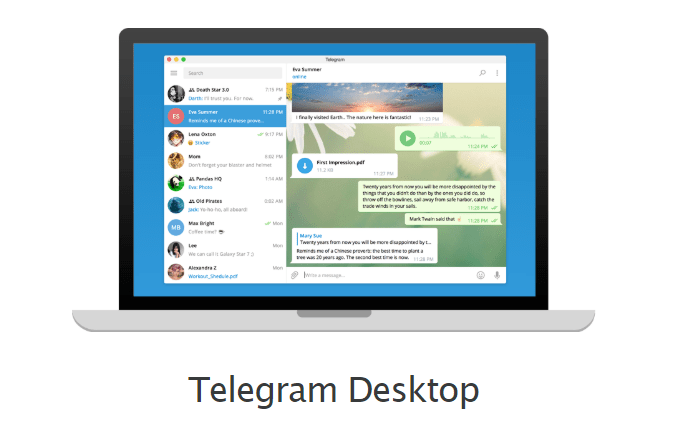 Telegram Desktop app image