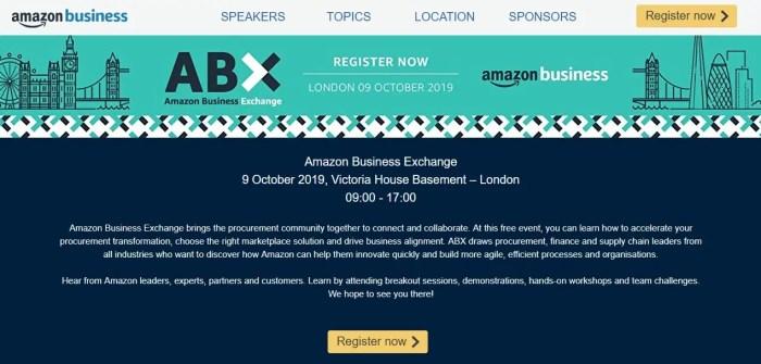 Amazon Business kündigt erste Konferenz für Geschäftskunden an: Amazon Business Exchange