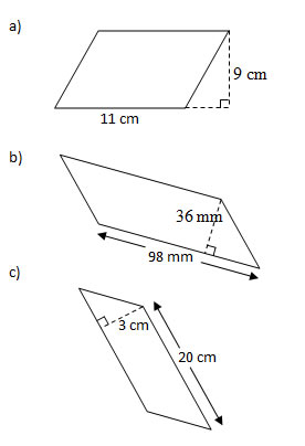 Area Of Parallelograms Worksheets Solutions Examples