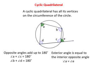 Quadrilateral Circle (solutions, examples, videos)