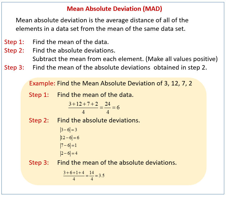 Measures Of Variability Solutions Examples Worksheets