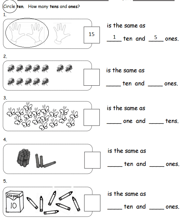 Tens And Ones Examples Solutions Worksheets Activities