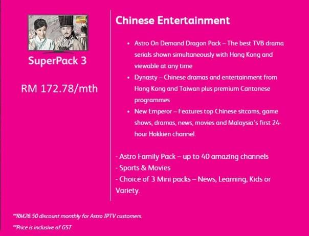 Astro IPTV Super Pack 3 - online Maxis Center, ZOIL