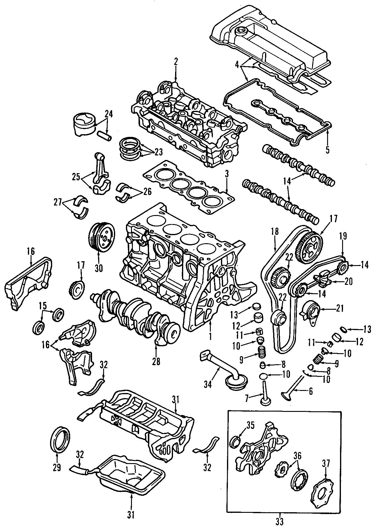 Mazda Engine Timing Belt Tensioner Pulley Engine