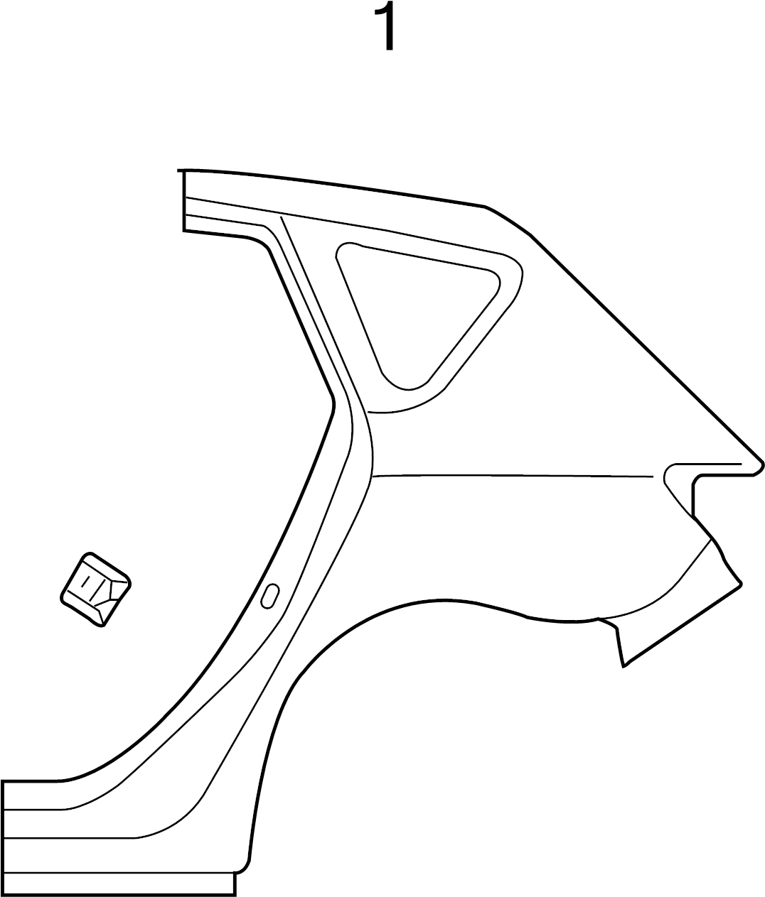 Mazda 3 I Sedan 2 0l A T Quarter Panel Nut Upper