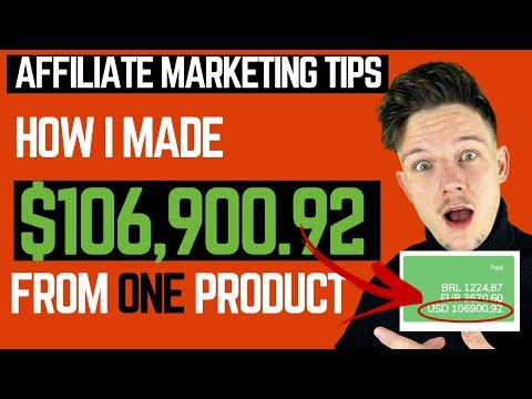 Affiliate Marketing Guidelines – How I made 6 Figures from ONE Affiliate Product.
