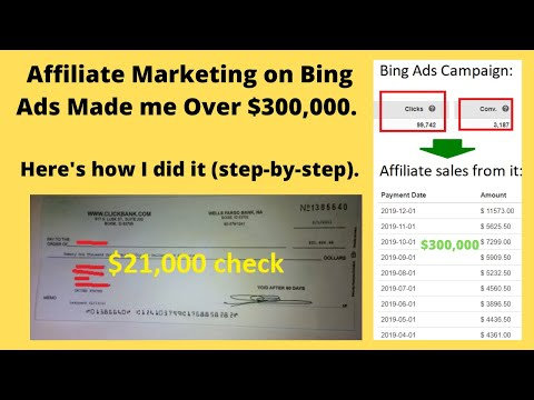 Study the blueprint in which to possess Affiliate Advertising on Bing Adverts. A $300,000 Document.