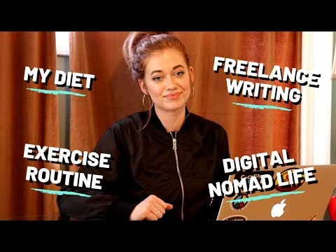 Q&A: Freelance Writing Pointers, Digital Nomad / TRAVEL, My WORKOUT ROUTINE and DIET, & MORE!