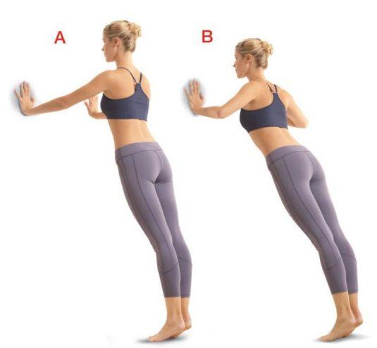 Resultado de imagen de flexiones contra pared