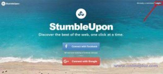 StumbleUpon Login Account