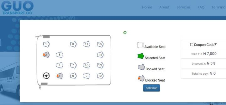 GUO Transport Online Booking