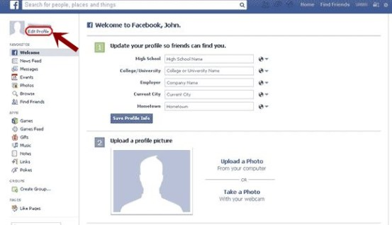 How to Edit Facebook Profile