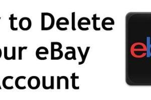 delete your ebay account