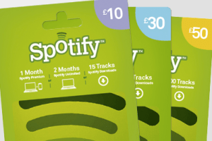 redeem your Spotify gift card