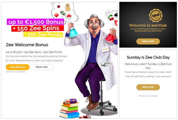 Bonuses at Playzee casino NZ