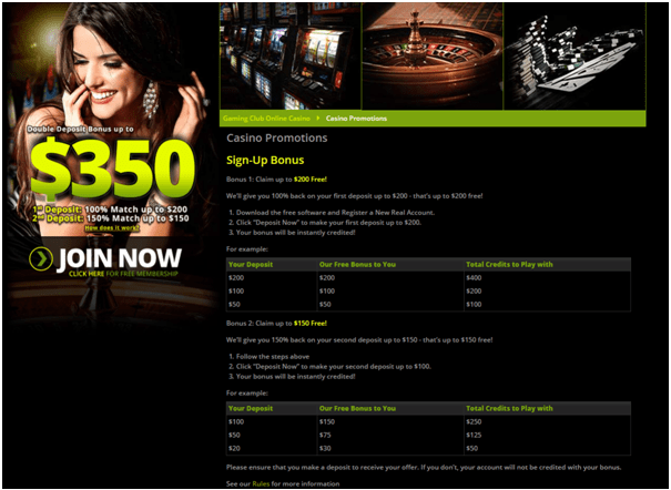 Gaming Club NZ bonus