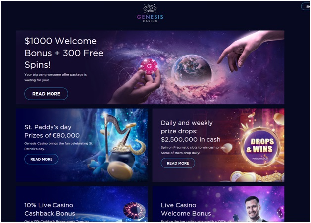 Genesis casino- Bonus offers