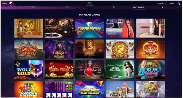 Genesis casino- Casino Games