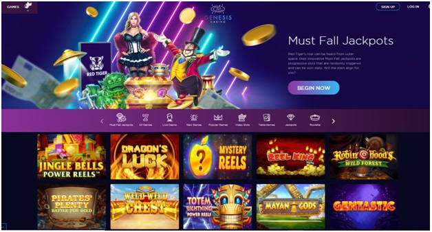 Genesis casino- Must Fall Jackpots