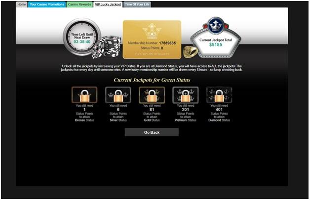 Grand Mondial Casino loyalty tiers