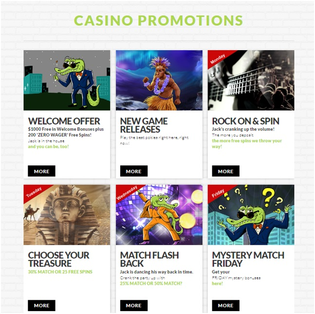 House of Jack Casino -promotions