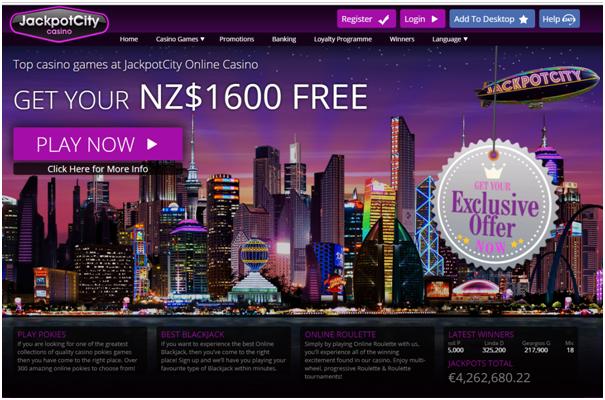Online casinos NZ- Jackpot city casino