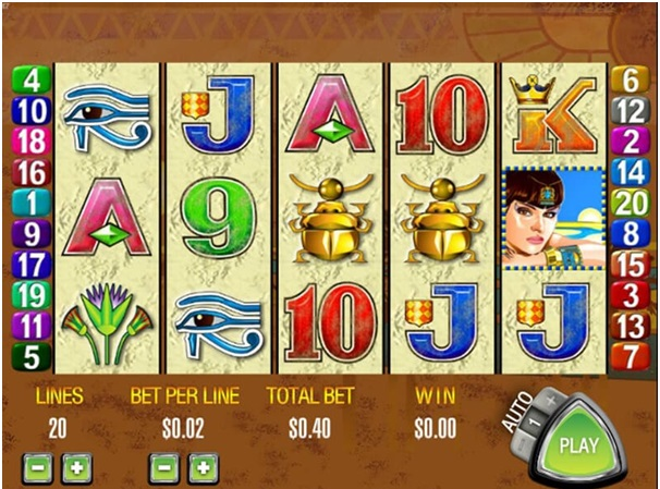 Queen of the nile slot symbols