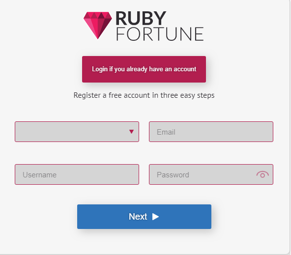 Ruby Fortune Casino Getting started
