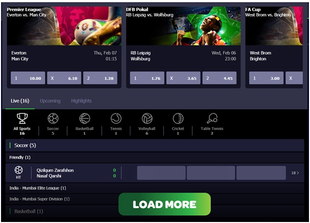 Spin casino bets