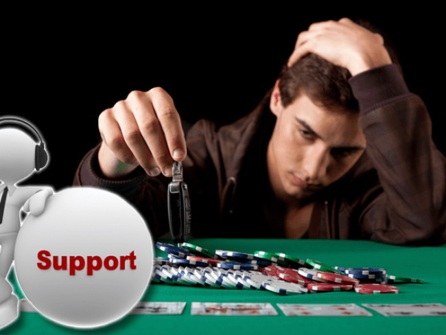 What are the support services for problem gamblers