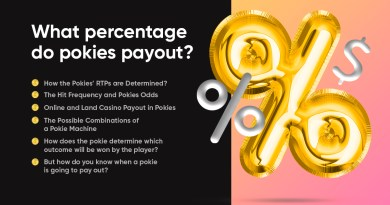 What percentage do pokies payout