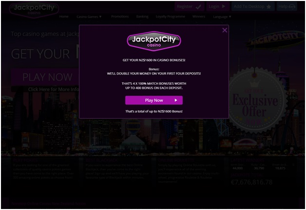 jackpot city online casino nz- bonus