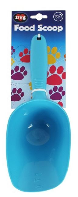 Pet Scoop Food Dog Products Puppy Feeder Cleaning Shovel Blue