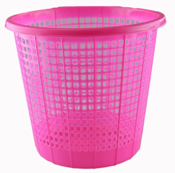 'Brights' Waste Rubbish Bin in Basket Style for Bedroom, Bathroom & Study Office