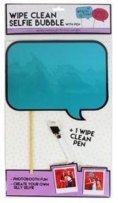 Dry Erase Selfie Board Wipe Clean Speech Bubble Photo Prop Aqua