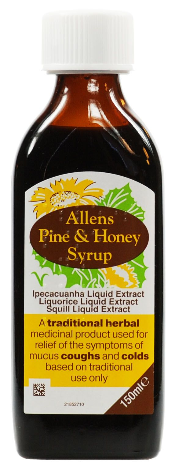 Allens Pine and Honey Syrup 150ml
