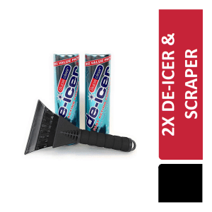 De icer SupaClear 600ml 2 Tins Plus Free ice scraper