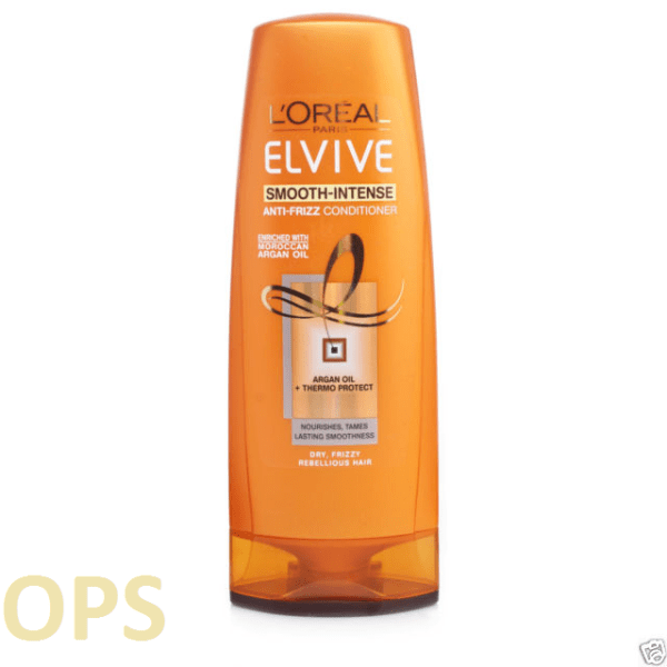 LOREAL ELVIVE SMOOTH-INTENSE ANTI-FRIZZ CONDITIONER FOR DRY, FRIZZY REBELIOUS HAIR 400ML