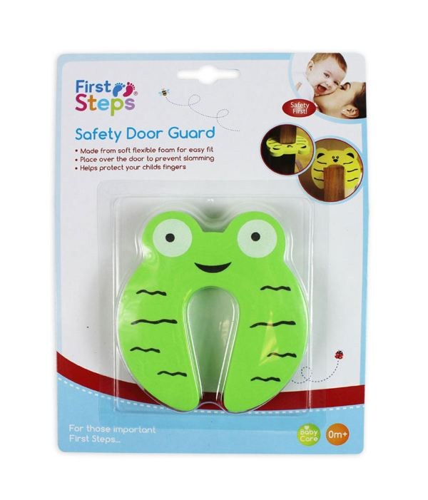 Child Safety Door Stop Stopper Animal Hinge Cushion Finger Protector Green