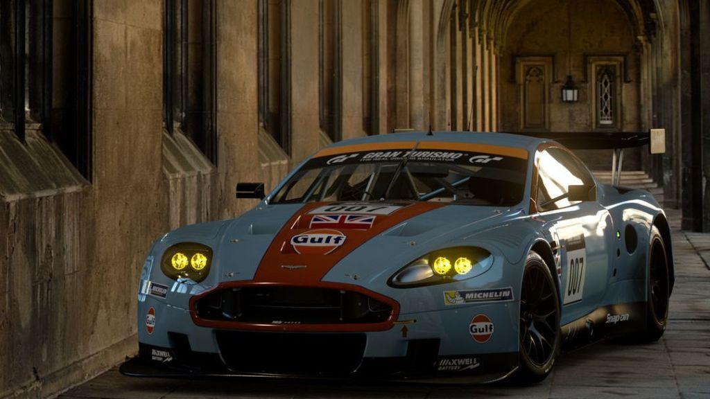 The Aston Martin DBR9 GT1 looks great in GT Sport