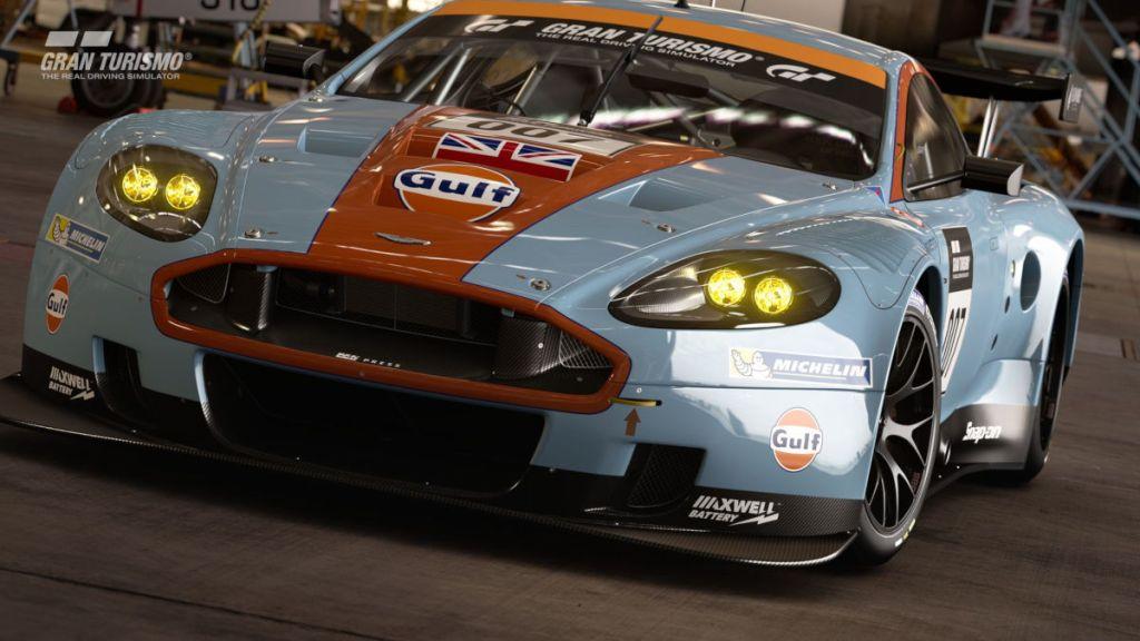 The Aston Martin DBR9 GT1 2010 arrives in GT Sport update 1.56