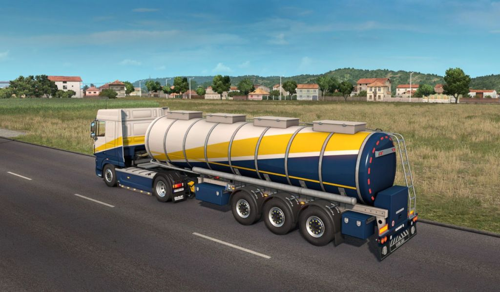 The new food tank trailer in the ETS 2 1.37 open beta