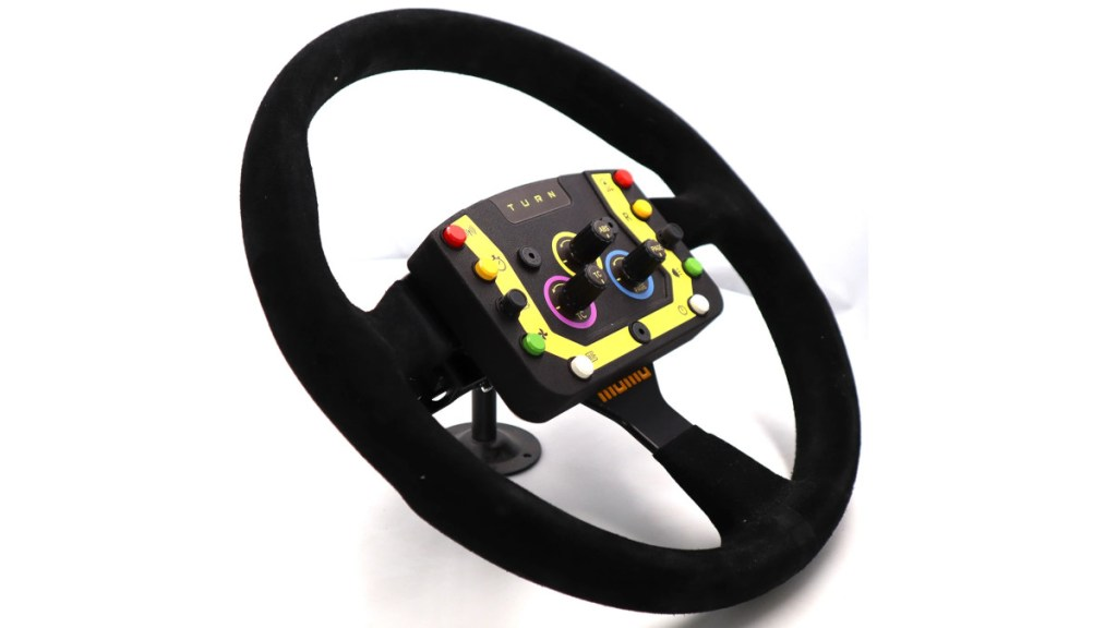 The button pod also fits more traditional steering wheels