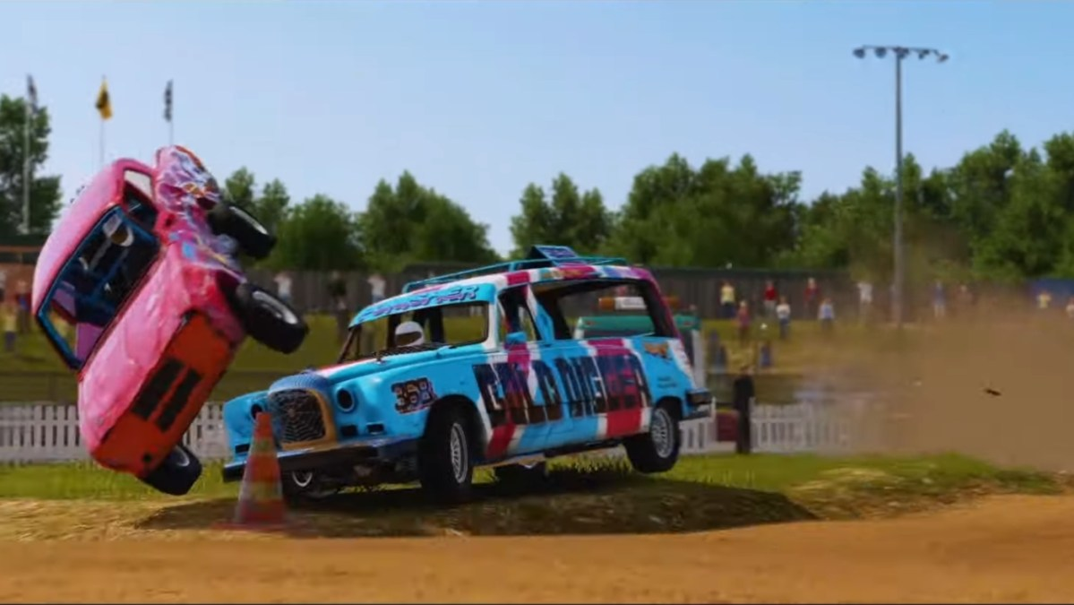 The Wreckfest Banger Racing Pack includes the Hearse.