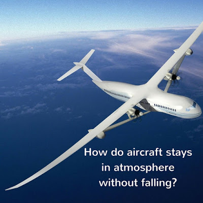 Aircraft stays atmosphere without falling down