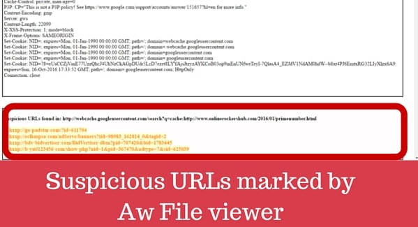 Suspicious URL