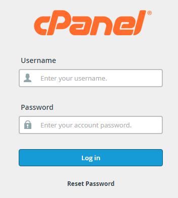 Login page of Namecheap cPanel of your website