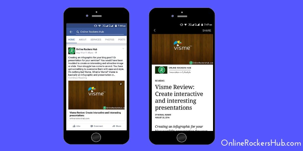 Online Rockers Hub facebook instant articles